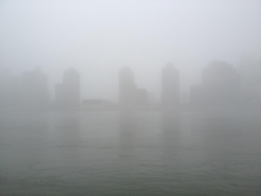 Roosevelt Island in the fog