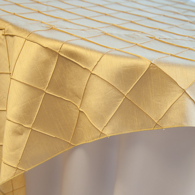 """Gold Pintuck  Available In: 84"""" square"""