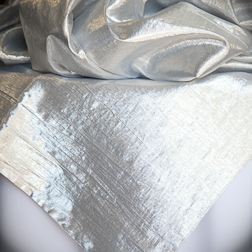 "Silver Lame  Available In: 54"" and 84"" Square and 120"" Round"