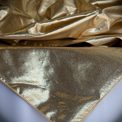 "Gold Lame  Available In: 54"", 72"" and 84"" Square"