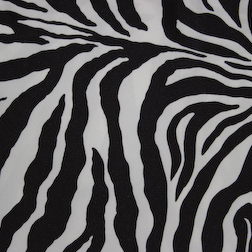 "Zebra Print  Available In: 84"" Square"