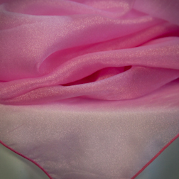Hot Pink Organza  Available In: 72x72