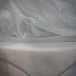 Silver Sparkle Organza  Available In: 84x84