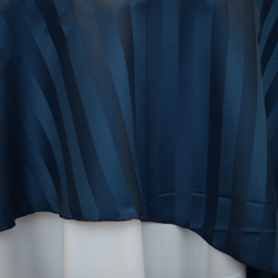 "NEW!  Navy Stripe  Available In: 132"" and 120"""