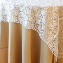 """White Lace  Available In: 84"""" Square"""