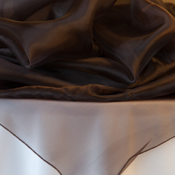 "Chocolate Organza  Available In: 90"" Square"