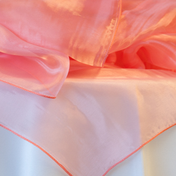 Light Coral Organza  Available In: 84x84
