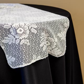 Large Floral Ivory Lace