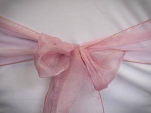 Medium Pink Organza Sash