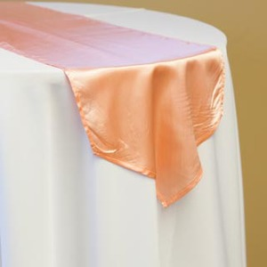 Peach Satin Runner