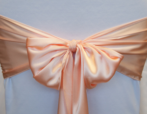 Peach Satin Sash