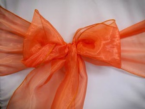 Orange Organza Topper