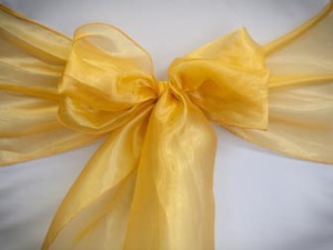 Yellow Gold Organza Sash