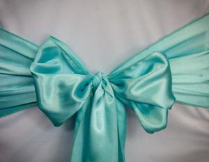 Tiffany Blue Satin Sash