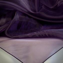 Dark Purple Organza Topper