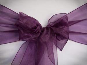 Dark Purple Organza Sash
