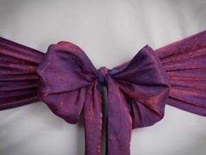 Purple Crushed Sash