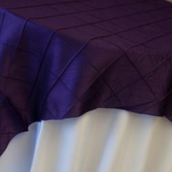 Purple Pintuck Topper