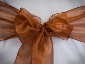 Dark Copper Organza Sash