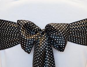 Black & White Polka Dot Sash