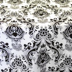 Black & White Damask Topper