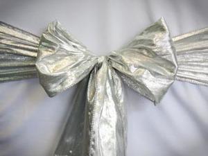 Silver Lame Sash