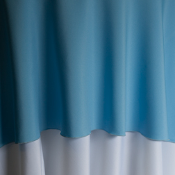 "Light Blue  Available In:  Rounds: 120""  Squares: 72""
