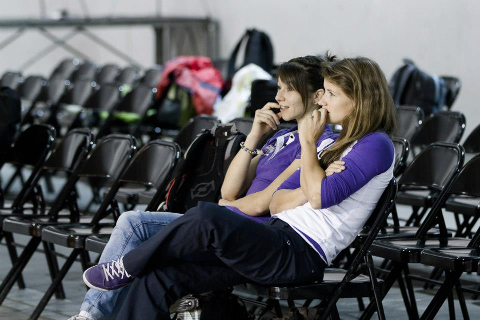 sabby and me watching the men's qualifiers - pic: heiko wilhelm