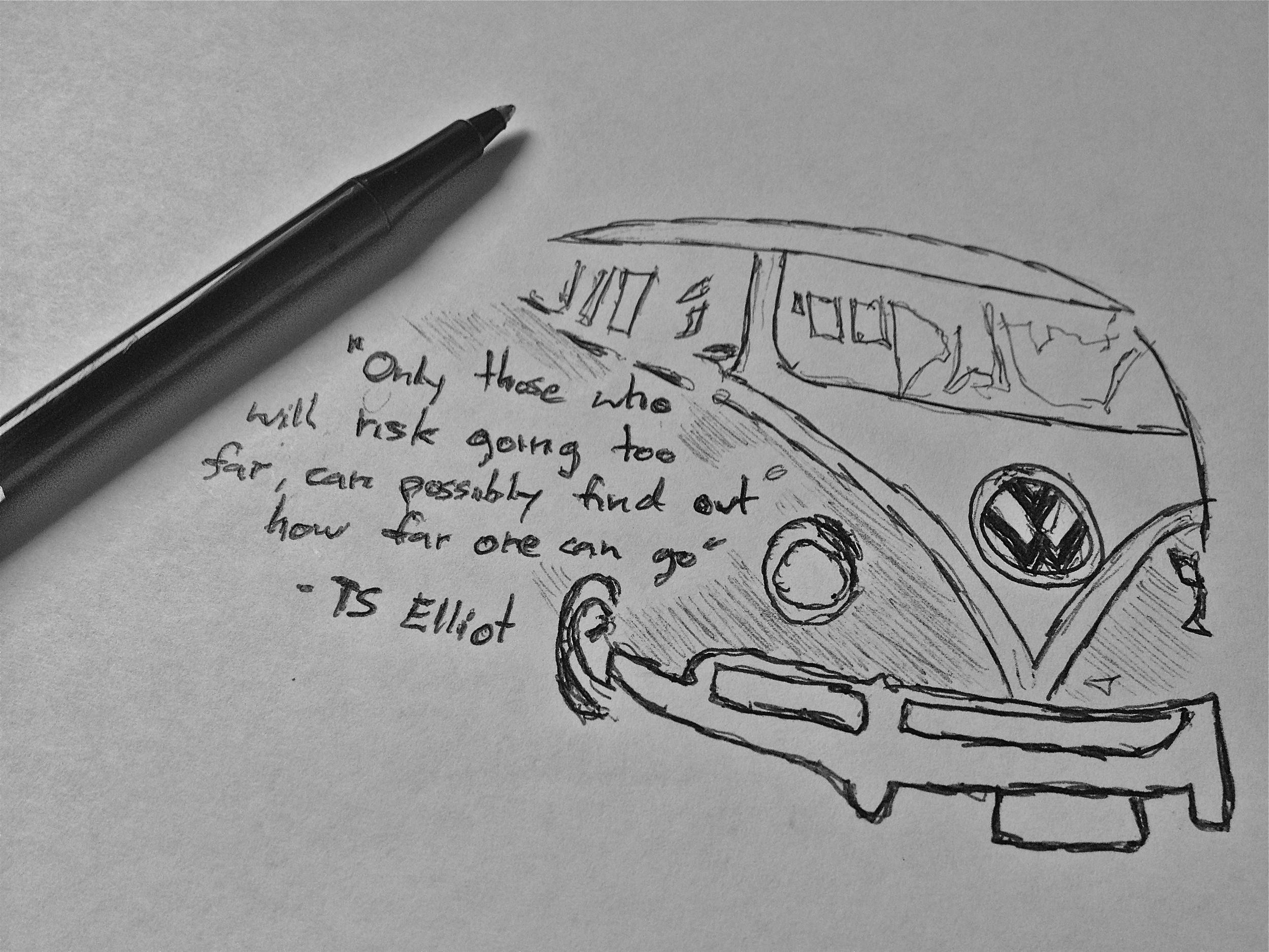VW Bus Sketch