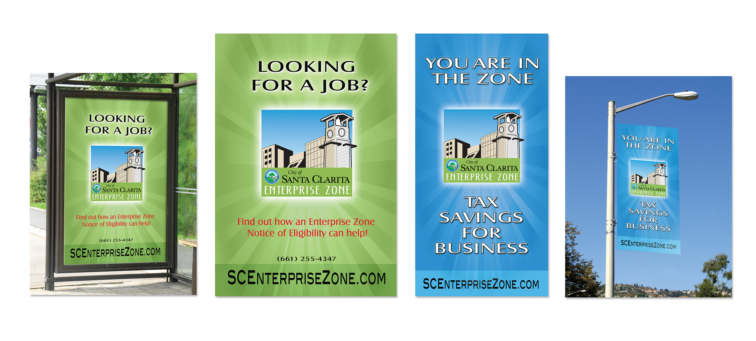 Enterprise Zone Transit Poster and Street Banner