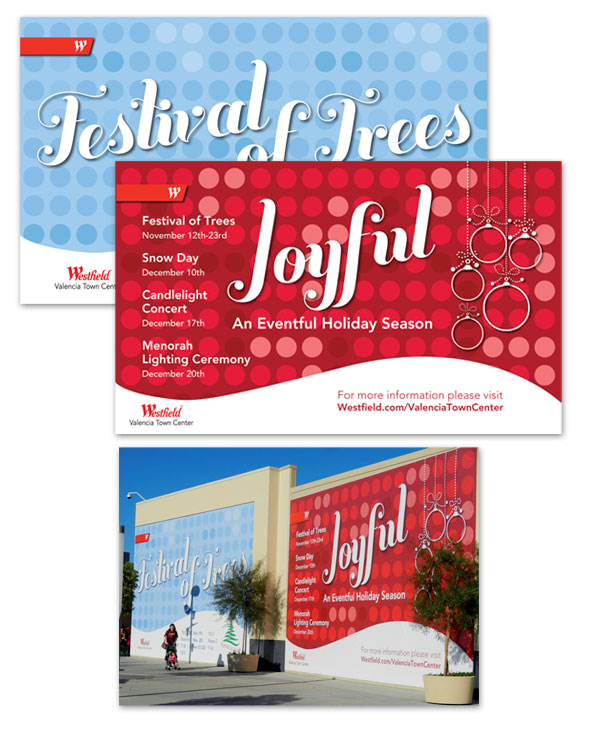 Westfield Mall Holiday Graphics