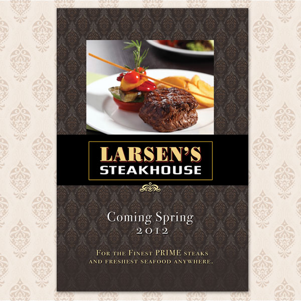 Grand Opening Westfield Mall Graphics for Larsen's Steakhouse