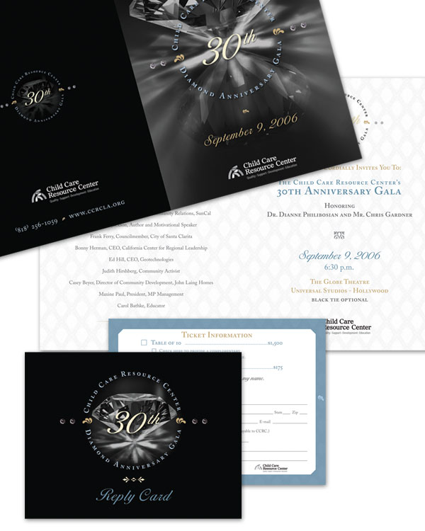 Branding of event, including  Program Book, Logo, Advertising, Poster, and Invitation