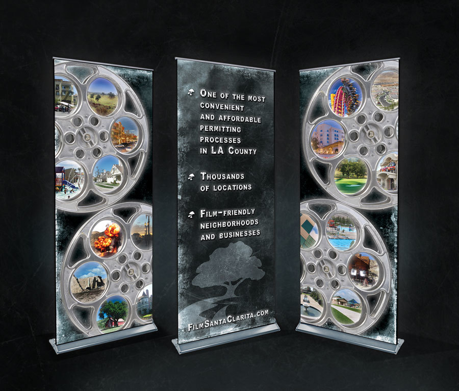 Modular Backlit Section for Film Trade Show Booth