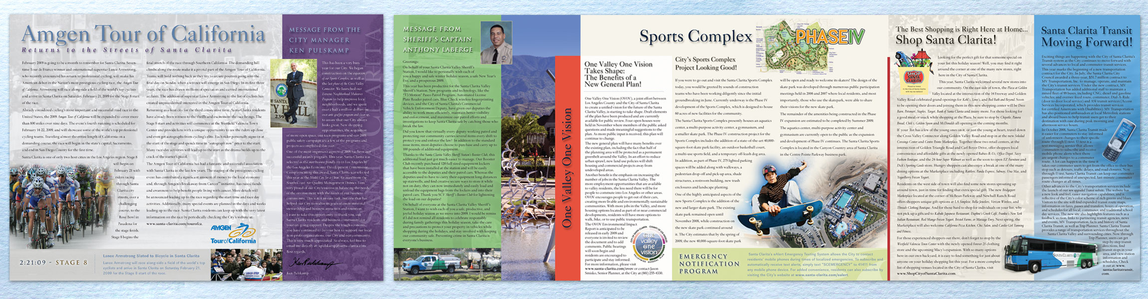 Semi-Annual Newsletter to 200,000 Residents