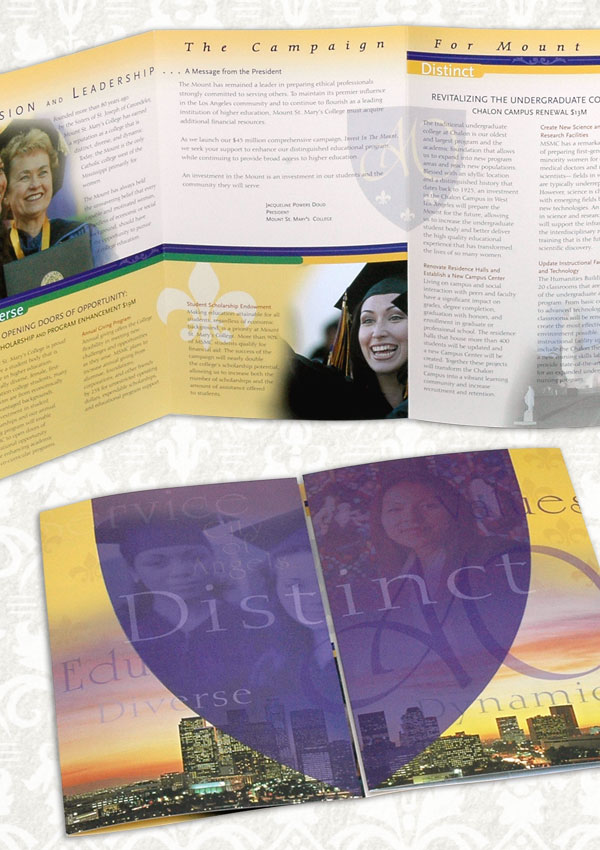 Press Kit Includes:  Subject Specific Brochures , Scholarship Brochure, Mount Fund Brochure, Stationary System, Logo Event Invitations.
