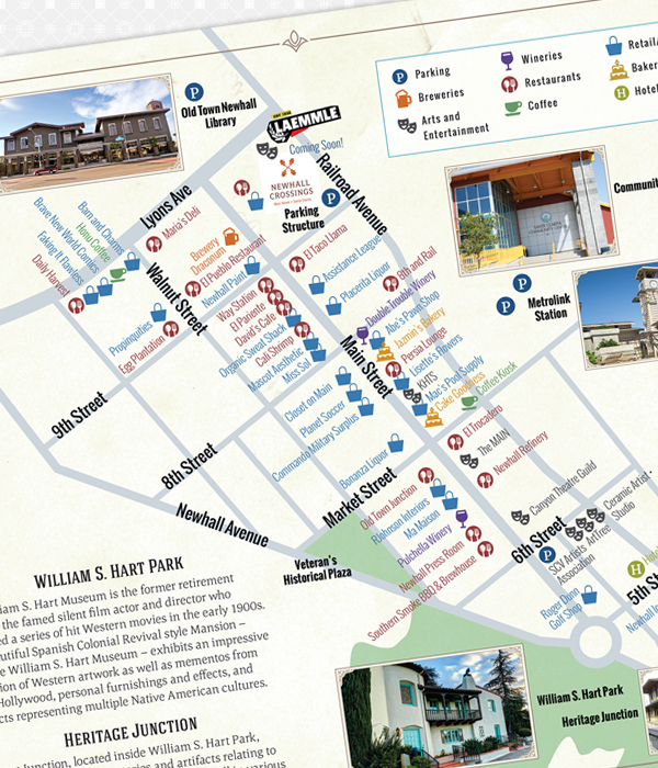 Retail inserts detailing specific shopping centers.