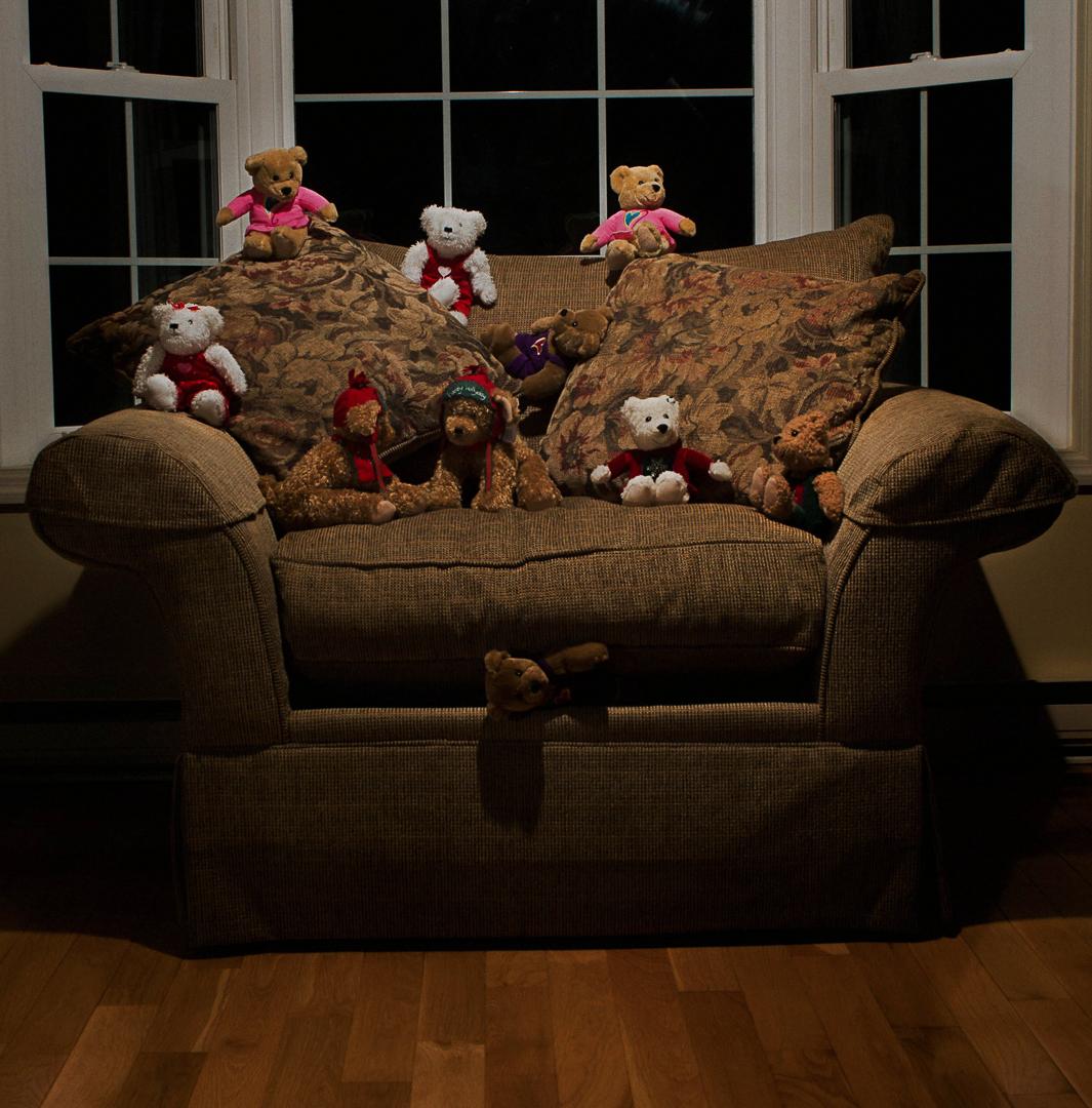 The chair belongs to the bears
