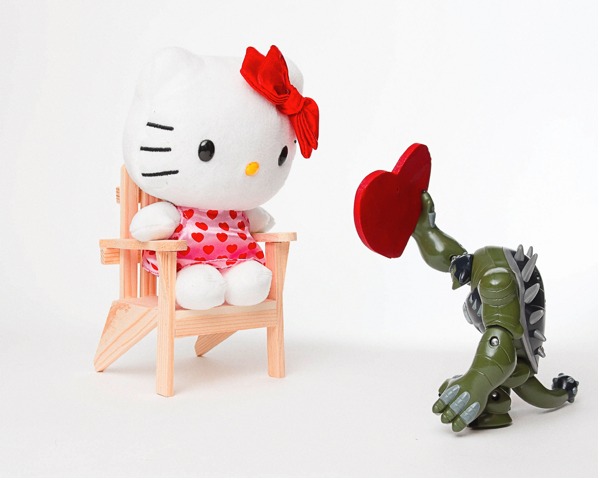 Miss Kitty finds an unexpected suitor vying for her affections on Valentines Day.