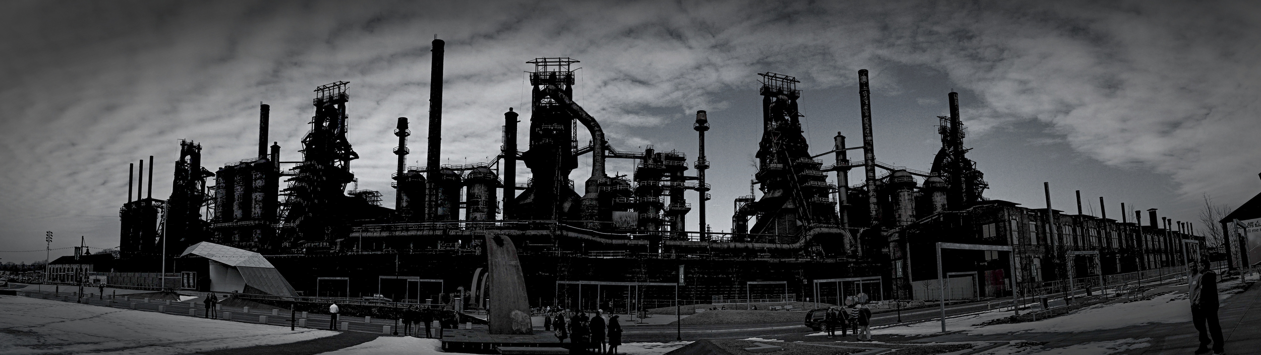Bethlehem Steel blast furnaces, panoramic