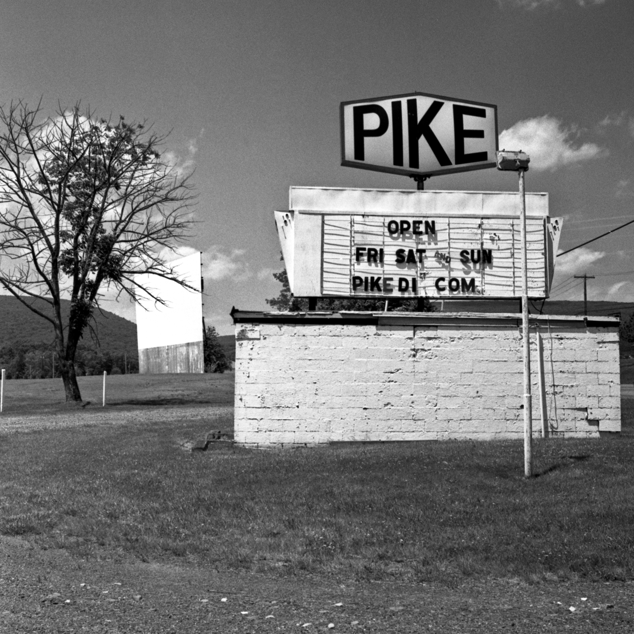 Pike Drive-In Theater in Montgomery, Lycoming County Pennsylvania.  Built in 1952.  It has three screens and operates only on the weekends.