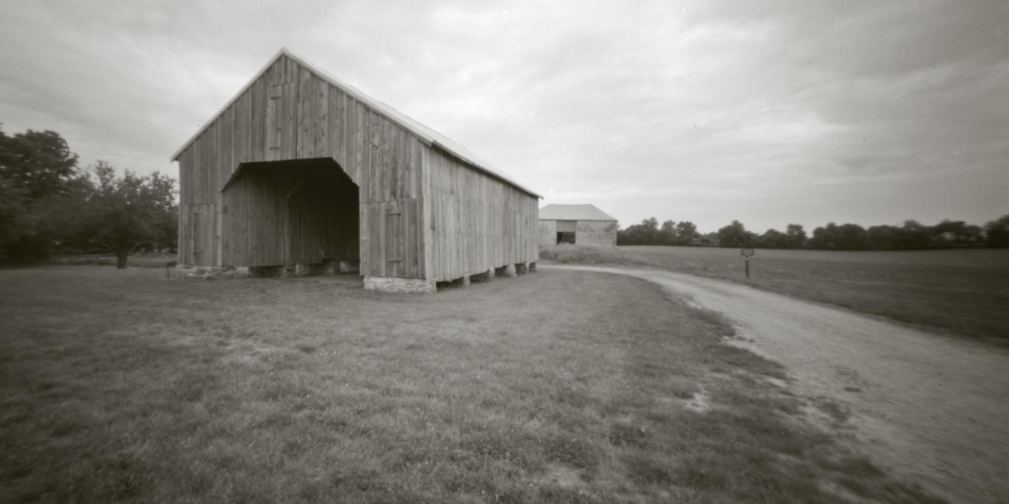 Best Farm at Monocacy National Battlefield. Frederick, Maryland. Leonardo 38mm 4x5 Pinhole camera.