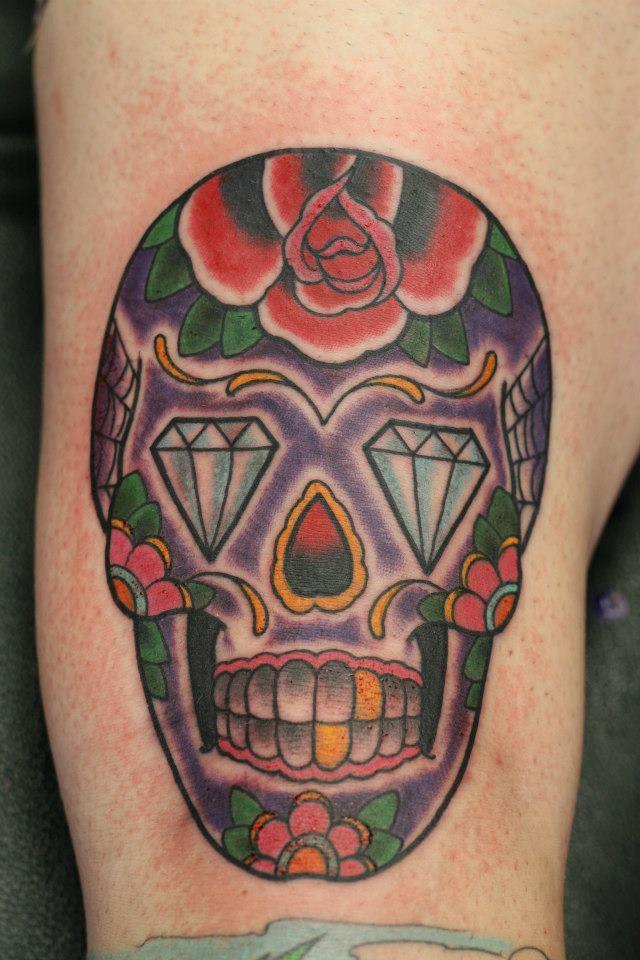 Candy skull skull tattoos Sydney tattoos .jpg