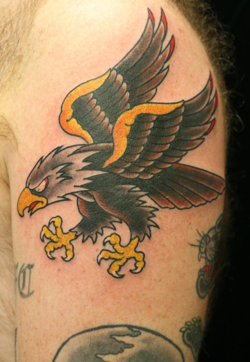 eagle tattoo Traditional tattoo Rhys gordon Sydney.JPG