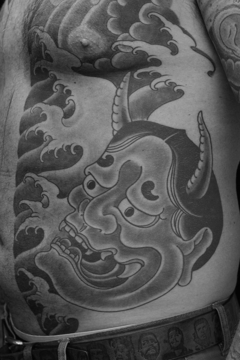 Japanese tattoos Sydney Hannya Tattoo Rhys Gordon.JPG