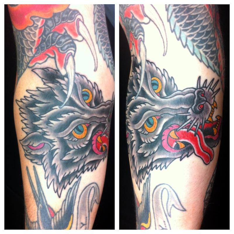 Wolf Tattoo Traditional Tattoo Sydney Rhys Gordon.JPG
