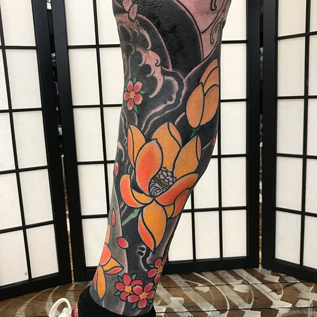 Progress on Paul's leg sleeve @_littletokyo_