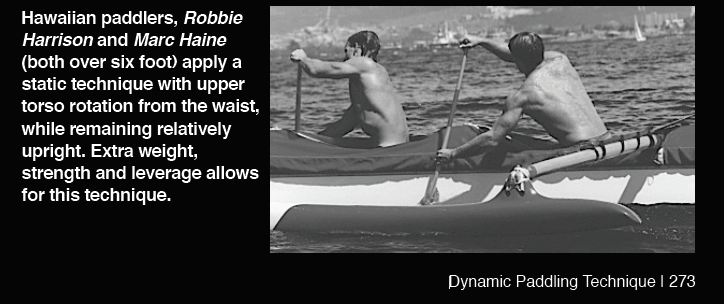 Dynamic and Static paddling technique is a real thing and each with its merits depending on the individual and one of the challenges in putting a crew together to be either all Static or Dynamic which permits greater uniformity, but not always possible so the blend has to be considered carefully.