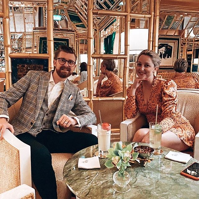 So good to be home in my happy place @wynn.palace!  Keegan dressed by @calibreaustralia & @louboutinhomme of course.  Nataliya dressed by @scanlantheodore & @louboutinworld.
