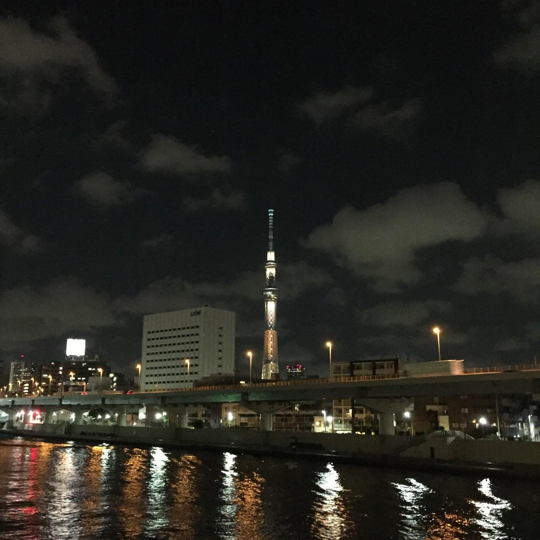 iPhone snapshot 「藏前橋より東京スカイツリーを望んで」